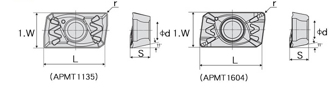 Indexable Inserts schematic diagram