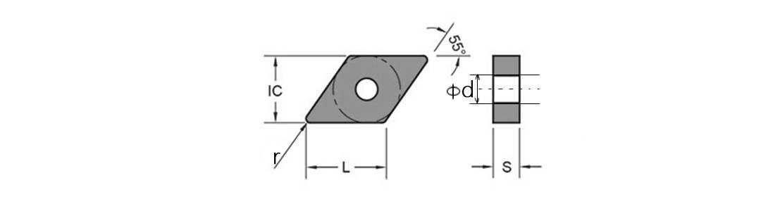 DNMG Turning Inserts schemztic diagram