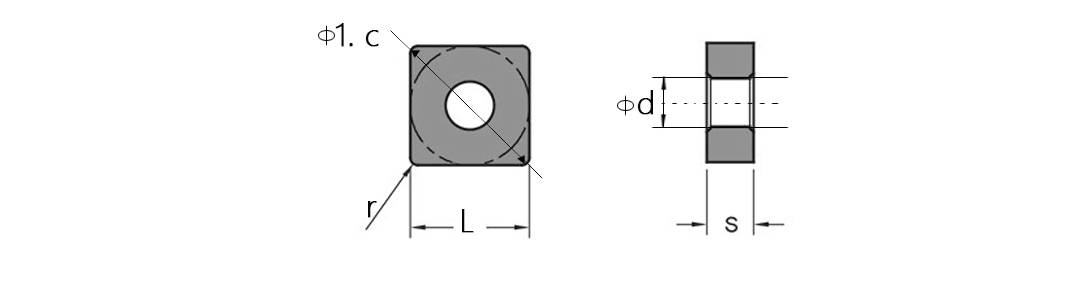 SNMG Turning Inserts schenmtic diagram