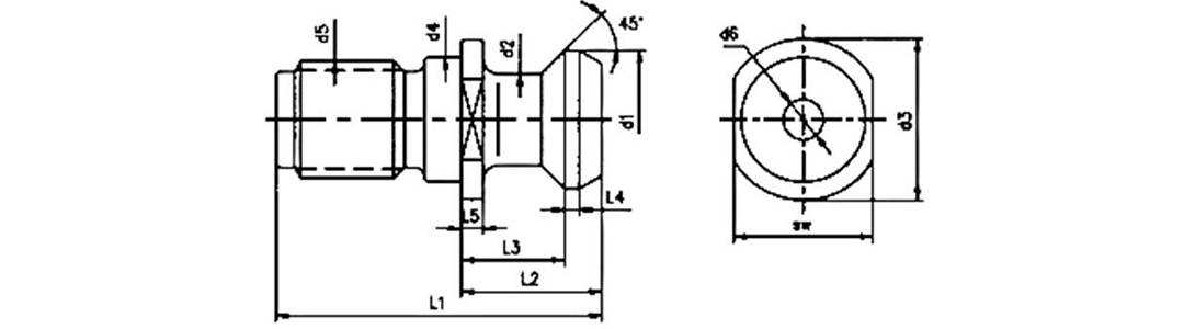 MAZAK pull stud schematic diagram